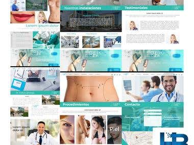 Cuerpo y Vida Website Design Sketch an UI Prototyping
