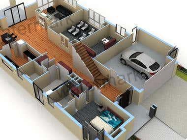 3D FLOOR PLAN DESIGNING SERVICE