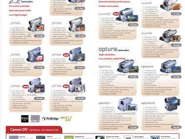 Canon Digital Camcorder flyer brochure