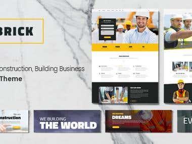 Design PSD WordPress Theme