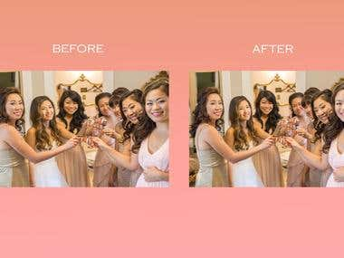 RETOUCHED PHOTOS FROM WEDDING