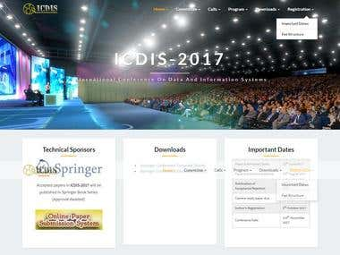 ICDIS - WordPress Website