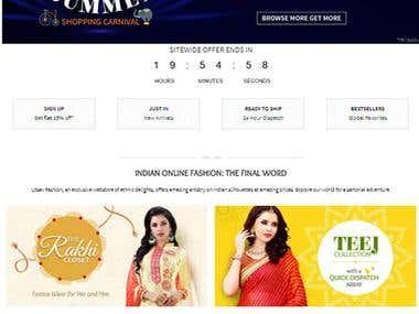 Utsav Fashion - eCommerce