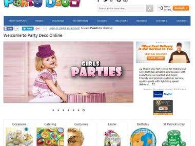 Party Deco - eCommerce