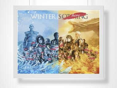 WINTER IS HERE | Game of Thrones poster | Season 7