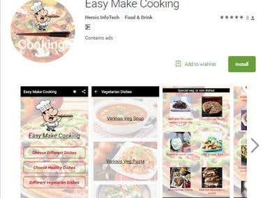 Easy Make Cooking app in google play