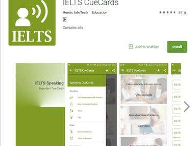 IELTS Cuecards app in google play