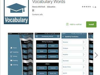 Vocabulary Words app in google play