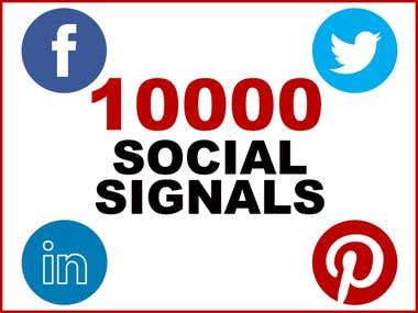 I am offering 10000 Social Signals to Boost SEO & Page Rank