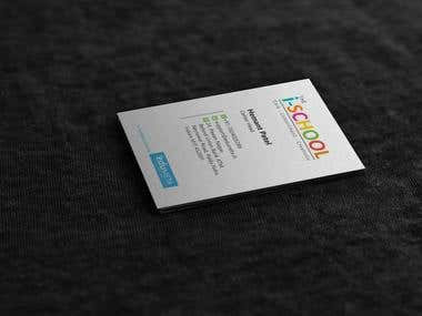 I-school Business card
