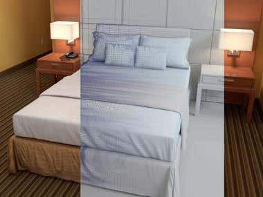 Hotel Interior 3D Illustration