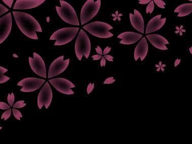 Sakura petals design
