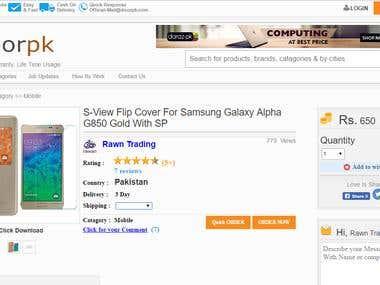 WEBSITE ABOUT ONLINE SHOPPING IN PAKSITAN