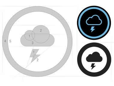Thundercloud Icon Design
