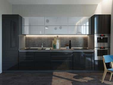 Design of an interior design of an apartment