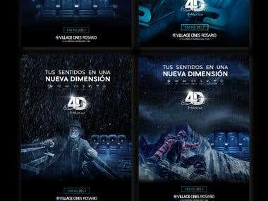 Campaña 4D village Cines