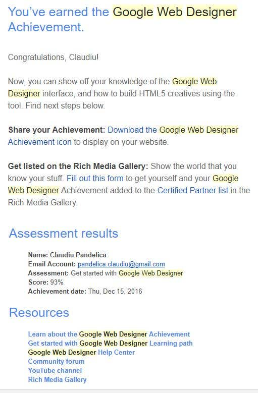 Google Web Designer Freelancer