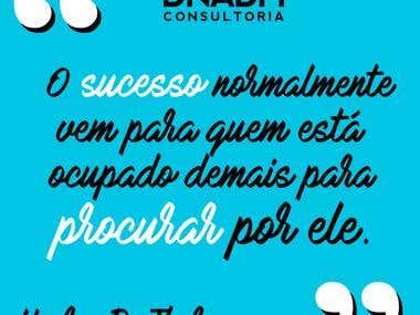 Frase motivadora DNADM Empresa Júnior UFU