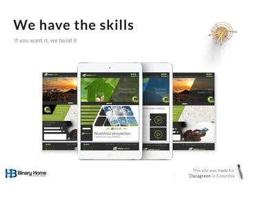 Web Development - Dacagreen Website