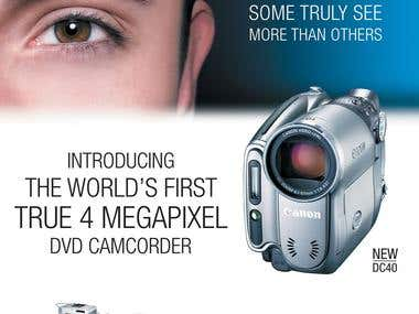 Canon DC40 camcorder poster