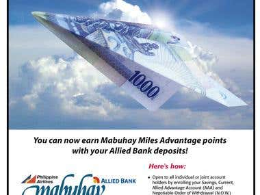 Allied Bank brochure and print ad