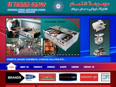 Trading company / Web design, development & graphics