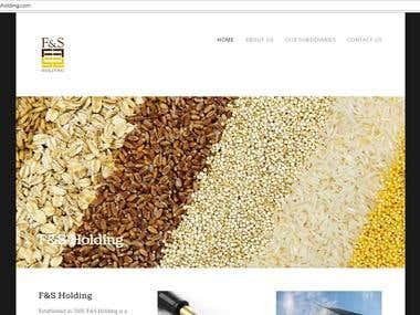 Food distribution / Website design