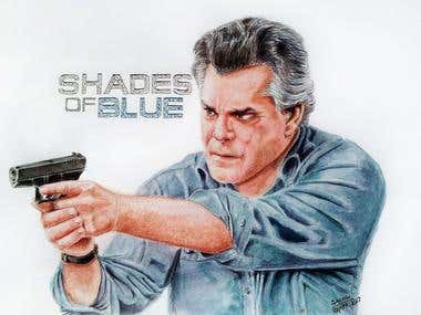 Painting of the actor Ray Liotta