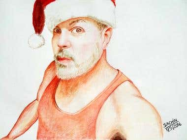 Painting of the actor Michael Harkins.