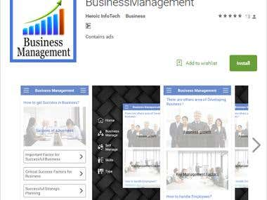 Business Management app in google play