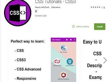 CSS/CSS3 tutorials app in google play
