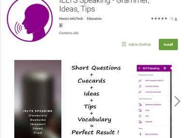 IELTS Speaking app in google play