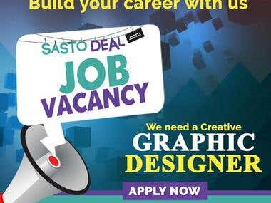Graphic Designer Vacancy Ad Banner