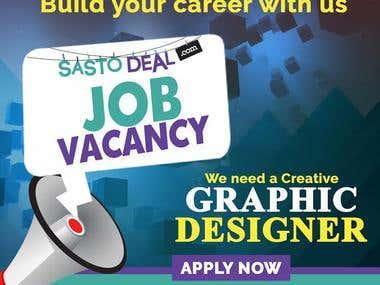 Graphic Designer Vacancy Ad Banner