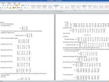 Matrix calculations