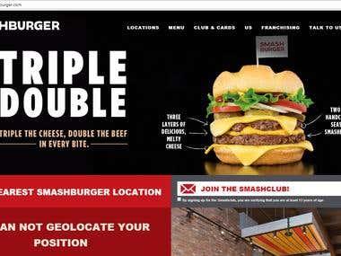 Food Burger / Web Design & Development