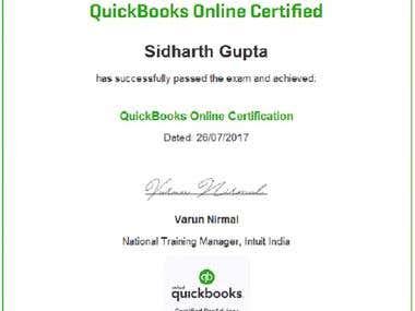 QuickBook Certificate