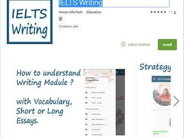 IELTS Writing app in google play