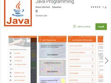 Java Programming app in google play