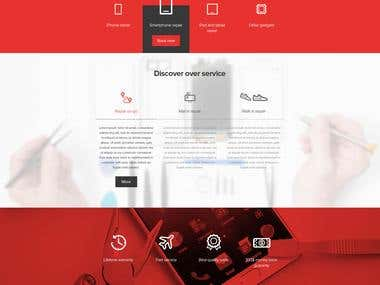 Cell repair service Web development