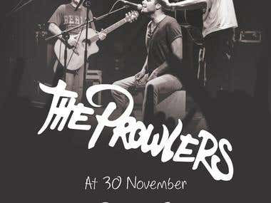 The Prowlers rock band poster