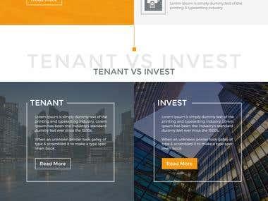 Bel Square Website Home Page Design