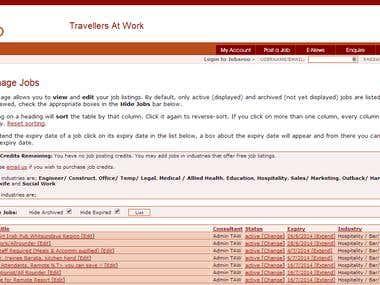 Jobaroo Website Administration