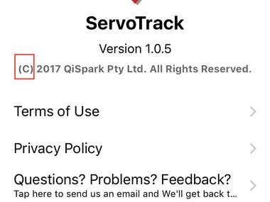 Servo track app in IOS