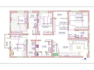I will Creat your Interior floor plan, Layout in AutoCAD.
