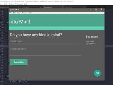 A personal Project - intu-Mind