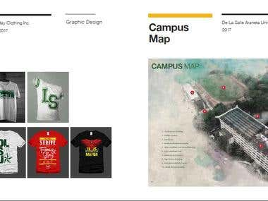 Shirt Designs; Campus Map