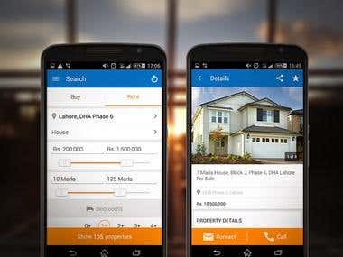 Mobile app for rent house
