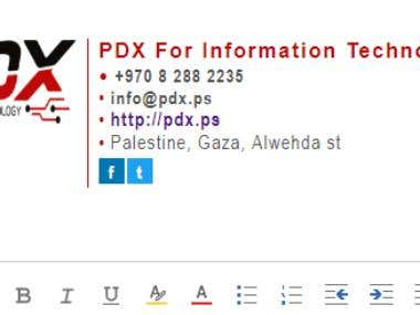 HTML Email Signature, Design 1