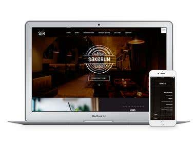 Sakerum Restaurant - Website Design and Development